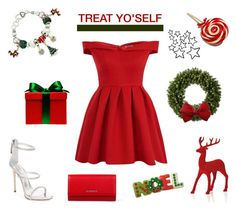 """""""Treat yo'self"""" by lysianna ❤ liked on Polyvore featuring Chi Chi, Givenchy and Giuseppe Zanotti"""