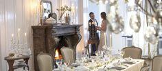Krásně a elegantně prostřený svatební stůl sLuxury Table