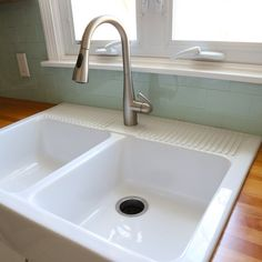 Everything but the kitchen sink.... or so it seemed. I am elbows deep in my kitchen renovation and all I've ever wanted is a farmhouse sink but I was truly finding it to be problematic. See most farmhouse sinks require a custom cabinet that was made for the an apron front sink. No matter the
