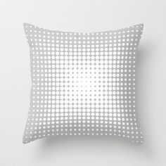 Dots on Gray Throw Pillow