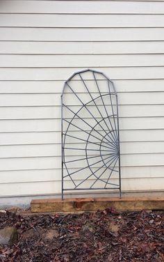 Spider Web Steel Garden Trellis. Plant and Vine Trellis.
