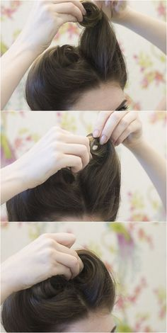 A va-va-victory roll hair tutorial with The Parlour London. ((So need to learn how to do my hair))