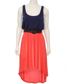 Bought  this yesterday! Can't wait to wear it. Color-blocking and the hi low fashion fad!