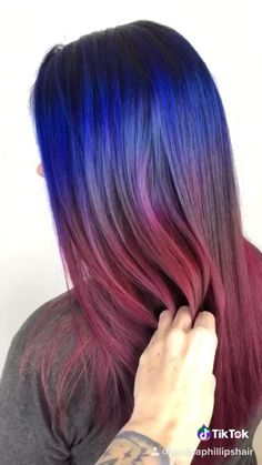 Cherry Hair Colors, Vivid Hair Color, Purple Hair, Ombre Hair, Manic Panic Hair Color, Hair Color Ideas For Brunettes Balayage, Brunette Hair Color With Highlights, Hair Colour Design, Colored Hair Tips