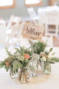 Rustic Wedding Centerpieces adorable baby mason jar arrangements                                                                                                                                                                                 More