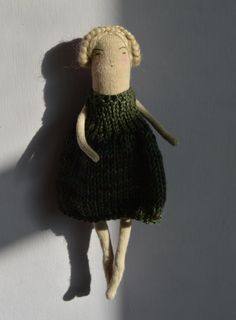 Moss A knitted art doll by melodiestacey on Etsy