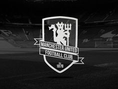 manchester united logo black and white theme and pictures pinterest b sta id erna om. Black Bedroom Furniture Sets. Home Design Ideas
