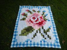 La Vie en Rose  - Afghan Crochet Pattern by TheYarnStabbur