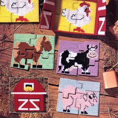Leisure Arts - Barnful of Puzzles Plastic Canvas Patterns ePattern, $2.99 (http://www.leisurearts.com/products/barnful-of-puzzles-plastic-canvas-patterns-digital-download.html)