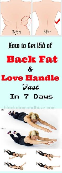 How do you Get Rid of back fat and love handles? Discover now Tips and Exercises on how you can blast your lower back fat and love handle fast