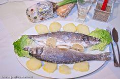 branzino al sale Italian Cooking, Italian Recipes, Fish Recipes, Seafood Recipes, Mediterranean Fish Recipe, White Dishes, Sea Bass, Fresh Rolls, Food Pictures
