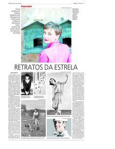 Matéria no jornal O Popular sobre exposição de fotos de Audrey Hepburn em junho de 2015