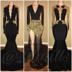 Black and gold for my prom dolls #Rmills (These are sold already)