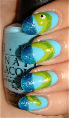 Lochness Monster :]... I would never wear my nails like this, but I think its cute!