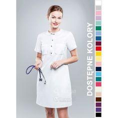 Sukienka Medyczna Hansa 0210 | Odzież damska | Dla lekarzy, farmaceutek i pielęgniarek. | Sklep internetowy Dersa |