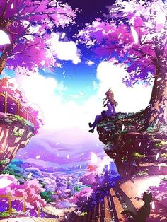 Anime art...can I be transported here for a little while. It's so pretty!!!