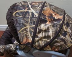 Camo withTiffany Blue Infant Car Seat Cover by sewcuteinaz on Etsy