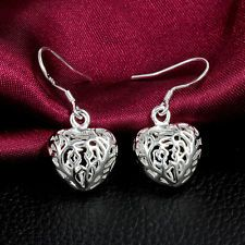 Fashion Simple Women Silver Earrings Heart Ear Drop Jewelry Christmas Gift