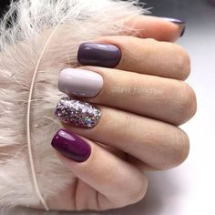Pretty Nail Colors, Fall Nail Colors, Winter Nails Colors 2019, Simple Nail Designs, Nail Art Designs, Nails Design, Gel Manicure Designs, Trendy Nails, Cute Nails