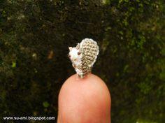 Teeny Tiny Squirrel - Micro Amigurumi Crochet Miniature Tiny Animals - Made To Order