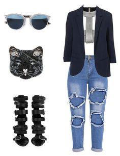 Untitled #98 by failed-fashionista on Polyvore featuring polyvore Topshop La Perla Giuseppe Zanotti Accessorize Christian Dior fashion style clothing