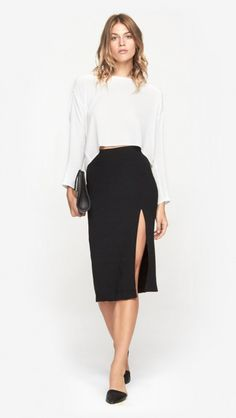 Lacey Skirt in Black by Won Hundred