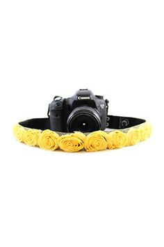 CASLR15-RSYL Yellow Organza 1.5In Camera Strap