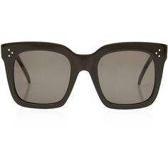 Celine Black Tilda Oversized Sunglasses ($350) found on Polyvore