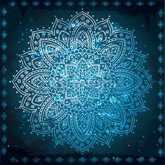 Mandala azul.