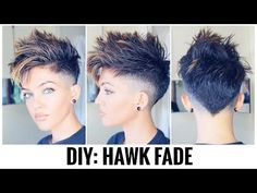 Tomboy Hairstyles, My Hairstyle, Undercut Hairstyles, Cool Hairstyles, Undercut Short Hair, Pixie Mohawk, Wedding Hairstyles, Funky Short Hair, Short Hair Cuts