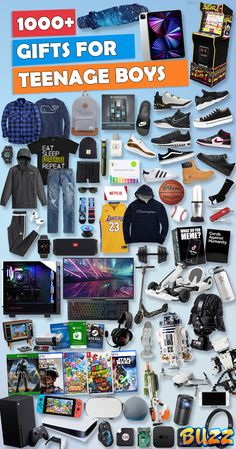 Gifts for teen boys- Christmas, birthday, holiday gift ideas. Perfect for boyfriends, sons, or nephews. Christmas Hacks, Christmas Gift Guide, Best Christmas Gifts, Christmas Birthday, Holiday, Cool Gifts For Teens, Gifts For Teen Boys, Teenage Boy Christmas Gifts, Diy Gifts