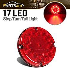 6 LED Red Marker Light 12 Volt 6 LED Bulbs Camper Truck Hot Rod Custom RV set