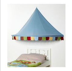 IKEA+Child's+MYSIG+BED+TENT+Canopy+Toy+Blue+Xmas+Girl+Boy+Unisex+Crib+Circus+Castle