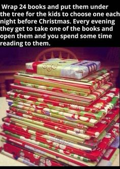 We love this idea to gift wrap kids' Christmas book gifts individually and have them open them as a countdown to Christmas. This list is full of unique gift wrapping ideas! Fun Christmas Games, 25 Days Of Christmas, Christmas Books, A Christmas Story, Christmas Humor, Christmas Holidays, Christmas Ideas, Christmas Stuff, Christmas Gifts