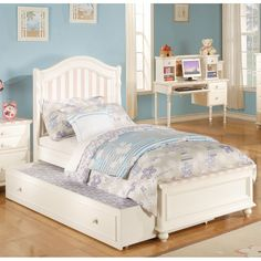 Zoe Platform Panel Bed by Acme Furniture | Platform Panel Headboard Kid's Bed Roll Out Trundle Storage Footbard