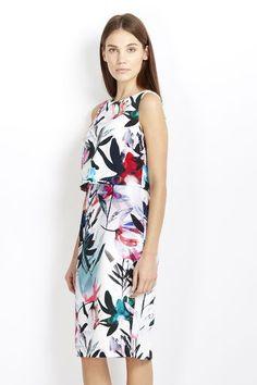 Floral Print Layer Dress #wallisfashion #SS16
