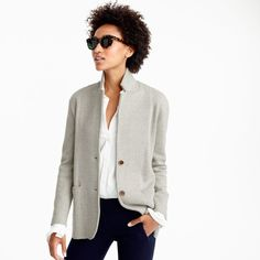 Have the navy one! Love the perma popped collar. Merino wool sweater-blazer