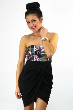 Sequin Party Dress - uoionline.com: Women's Clothing Boutique