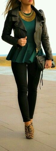 Street style, green and black