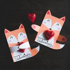 printable valentine crafts for kids..candy holder valentine craft..