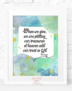 Give Printable Art Home Decor Wall Art by Wemakeyouhappy on Etsy