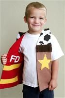 sewing, children, dress-up play, fireman/sheriff reversible vest, costume Dress Up Aprons, Dress Up Outfits, Dress Up Costumes, Kids Outfits, Sewing Projects For Kids, Sewing For Kids, Sewing Toys, Baby Sewing, Halloween