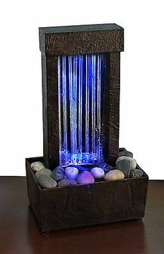 Color Change Waterfall Tabletop Fountain Indoor Home Decor Table Fountain Modern