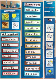 Kalenteri ekassa luokassa. (Tekstit löytyvät minulta sähköisinä, jos joku… Classroom Behavior, School Classroom, Classroom Organization, Classroom Management, Pre School, Back To School, Learn Finnish, Finnish Language, Teaching Aids