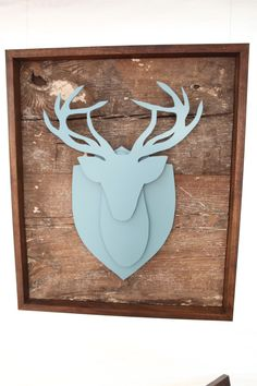 Love this semi-3D deer head! Get the feel of a zgallerie ceramic bust without the price