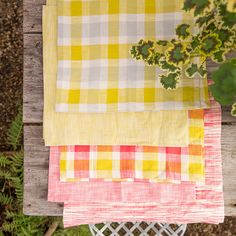 Cotton Check Napkin in House + Home Table Linens at Terrain