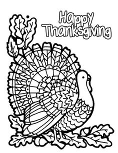 Free Printable Thanksgiving Coloring Pages 2021