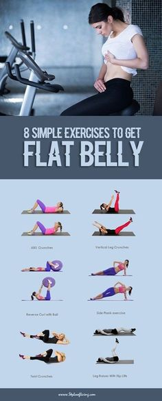 8 Simple Exercises to Get Flat Belly.