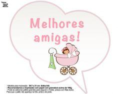 Plaquinhas Divertidas Chá de Bebê Menina 25