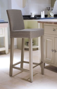Neptune Dining Bar Stools - Montague Interior Bar Stool - Pale Stone Seat Ht 66cm £220